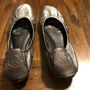 Tory Burch Shoes - Silver/Pewter Tory Burch Flats